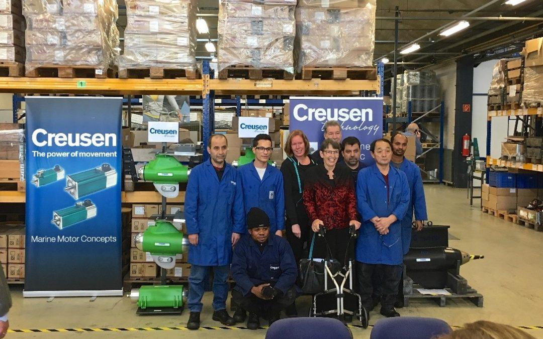 Vluchtelingen werken mee aan duurzame techniek bij Creusen