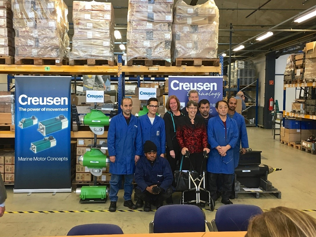 Vluchtelingen werken bij Creusen